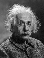 Albert Einstein'in vesikalık fotoğrafı