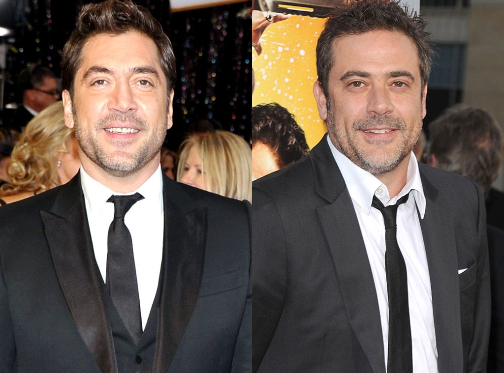 Javier Bardem   Jeffrey Dean Morgan from Celebrity Look Alikes   E  News Javier Bardem  Jeffrey Dean Morgan