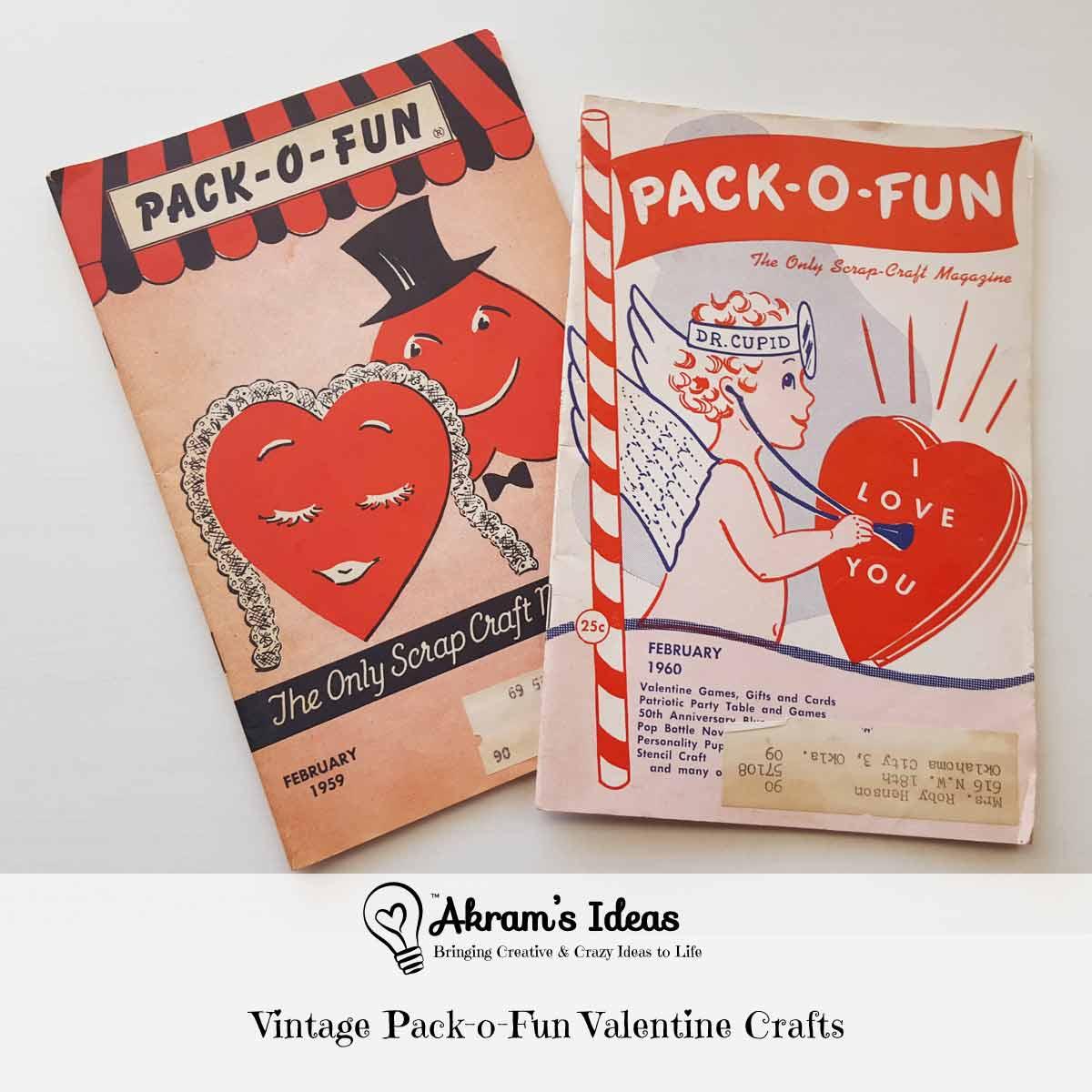 Vintage Pack-o-Fun Valentine Crafts