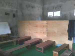 Ruangan kelas yang sudah dipergunakan