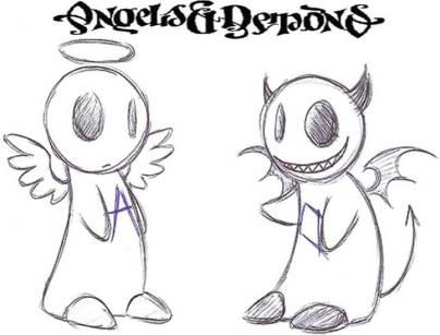 karikatur malaikat iblis