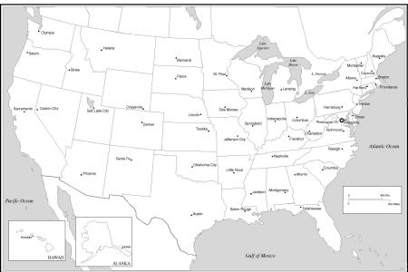 pics photos map united states capitals outline maps blank