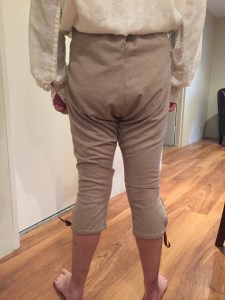 Breeches finished - back - Modelled by SO