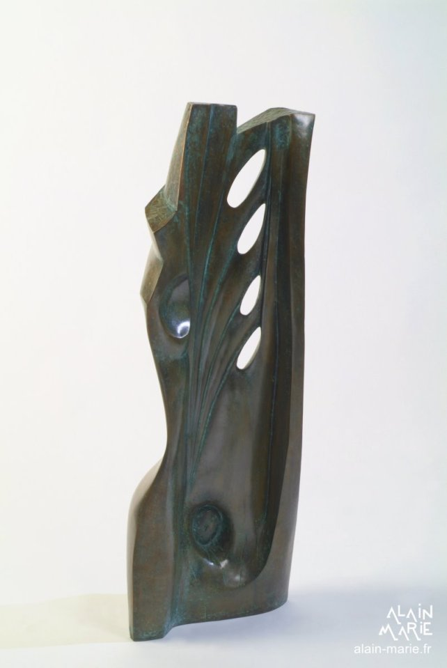 Femme-lyre, bronze 98x18x35