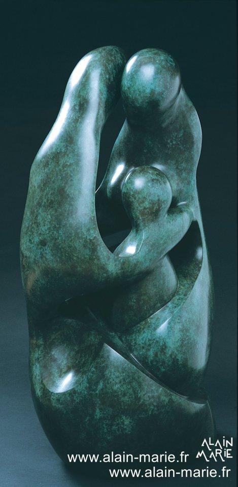 La Famille, bronze h.98 cm