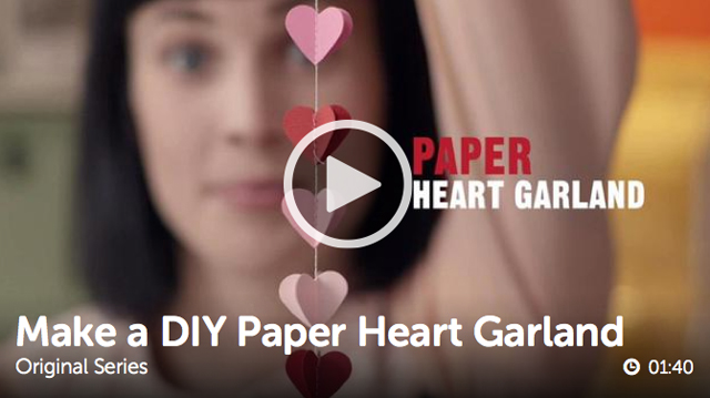 ulive paper heart garland