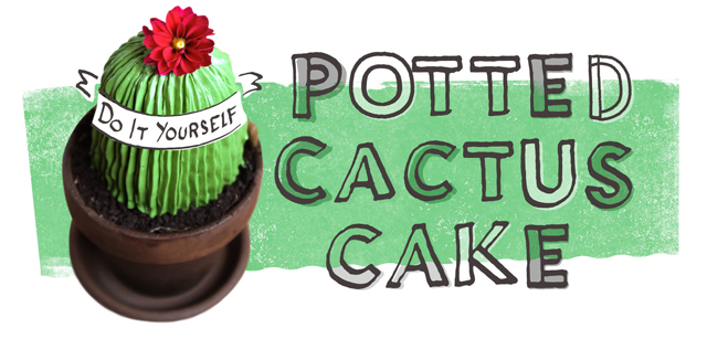 Potted Cactus Cake