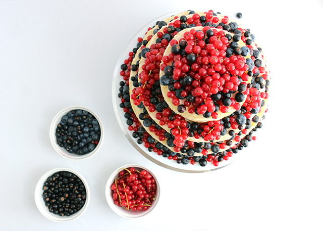 Currant Cake and Berries
