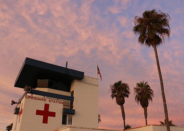 Lifeguard Station Sunset