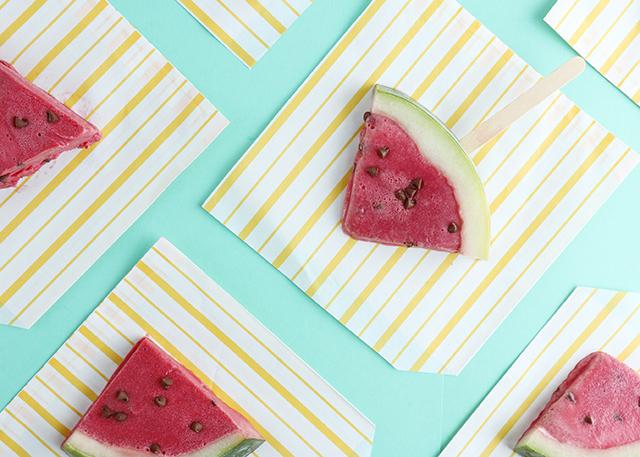 Watermelon Ice Cream Pops