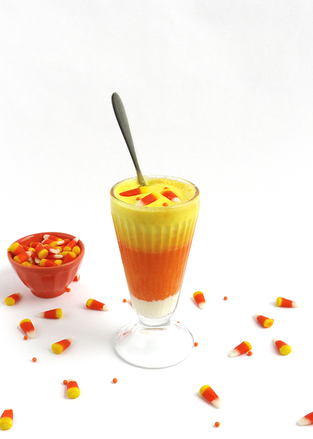 Candy Corn Upside-Down Cake Recipe — Dishmaps