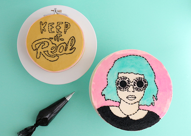 Embroidered Cakes