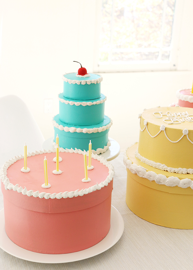 Candle Topped Cake Gift Box