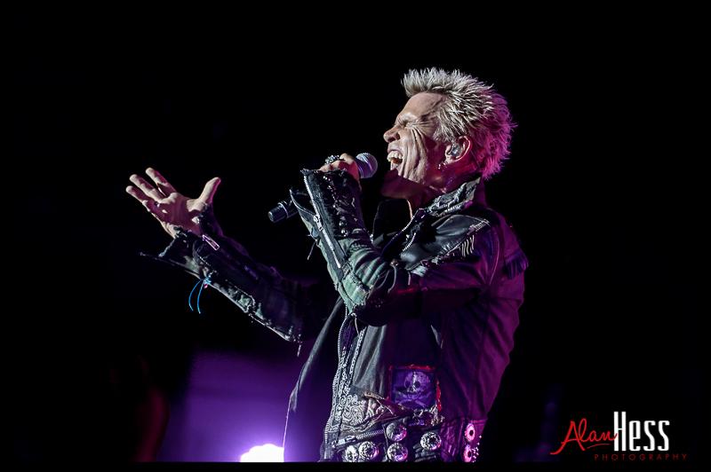 Billy Idol performs on May 24, 2013 during their 2103 Tour at Pechanga Resort in Temecula,  California