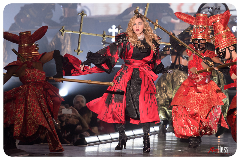Madonna performs during her REBEL HEART tour on October 29, 2015 at the Valley View Casino Center in San Diego, CA