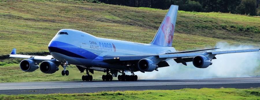 Cargo plane landing, PANC