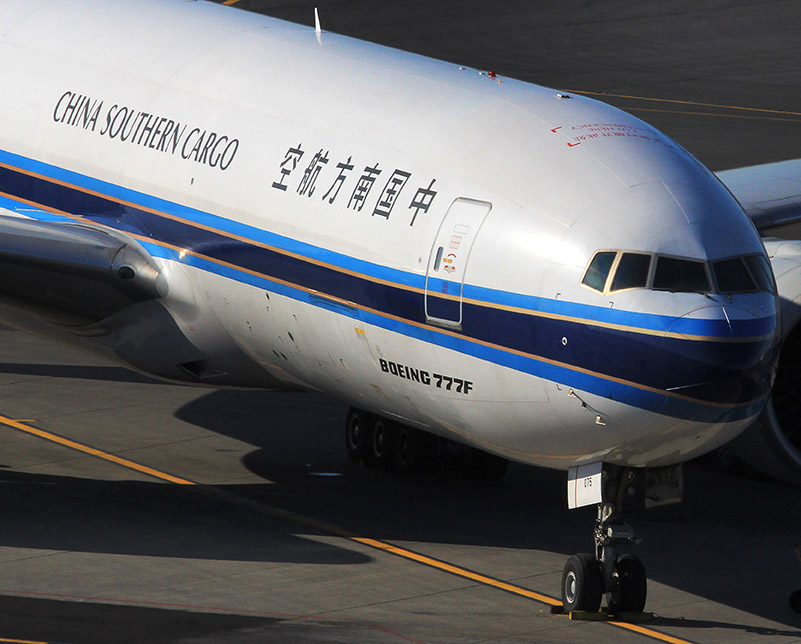 Boeing 777F at PANC