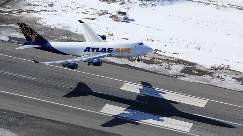 Atlas 747 taking off at PANC