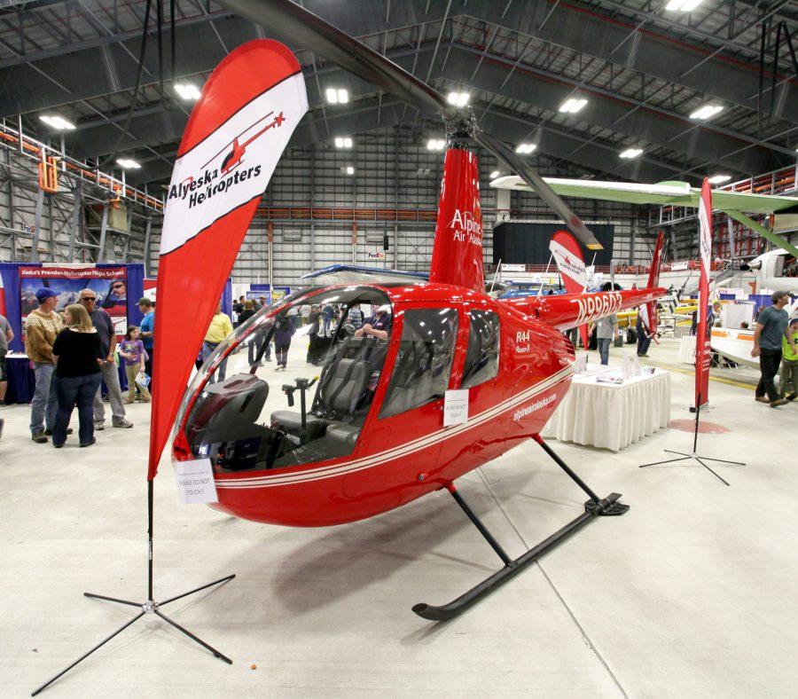 Robinson R-44 at PANC Airmen trade show. Photo by Rob Stapleton