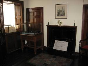 """""""Main"""" Room of Carnegie Cottage Where His Father Worked on Loom Weaving Dsmask Linen"""
