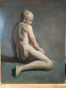 Eerste figuratieve werk gemaakt tijdens de workshop.
