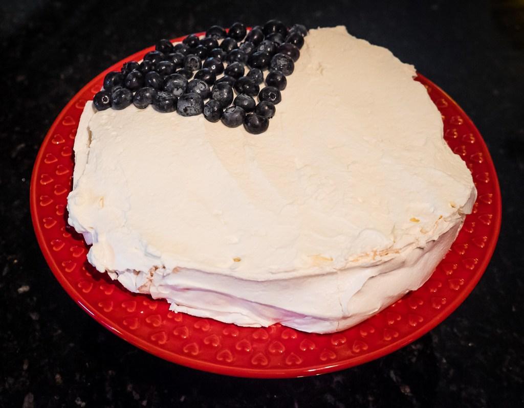 cream and berries