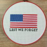 Lest We Forget Cross Stitch Pattern