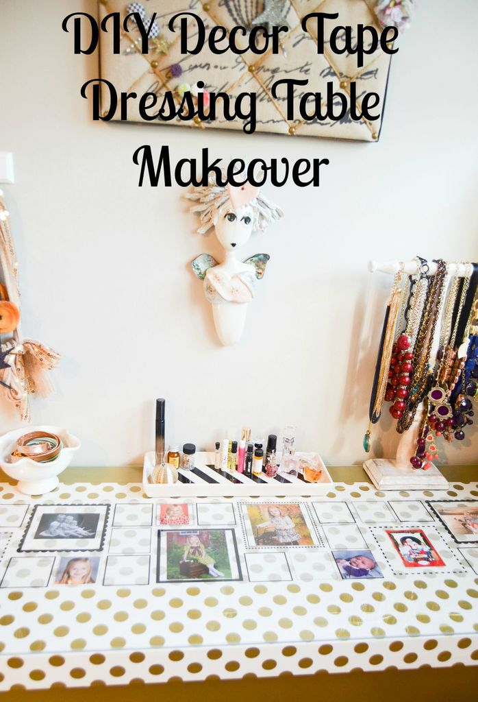 DIY Decor Tape Dressing Table Makeover