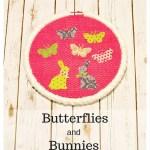 No Sew Butterflies and Bunnies Hoop Art