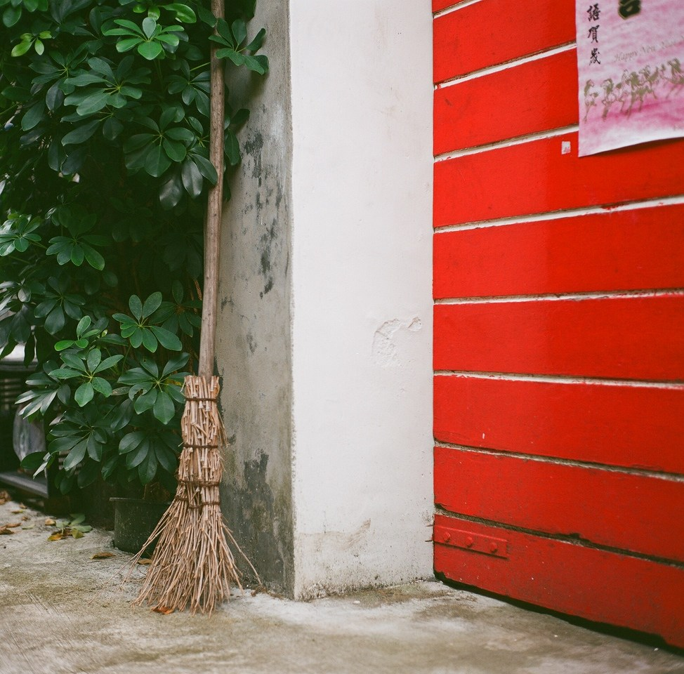 Besom - Fuji Superia 100 shot at EI 100. <br>Color negative film in 120 format shot at 6x6