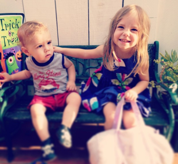 First day of school with big sis.