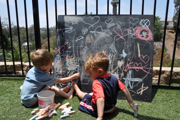 The big chalkboard is always a stealth hit!