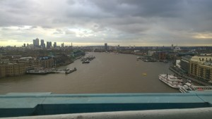 Udsigten mod Wapping og Canary Wharf