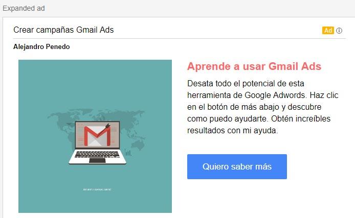 como crear campañas gmail ads paso 8