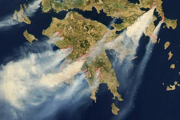 Smoke from the Fires in Greece
