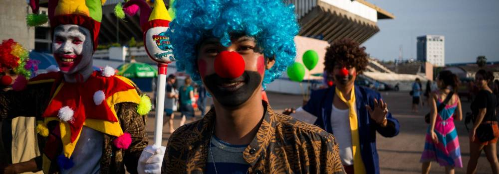 Khmer clowns - A photo by Alex Leonard