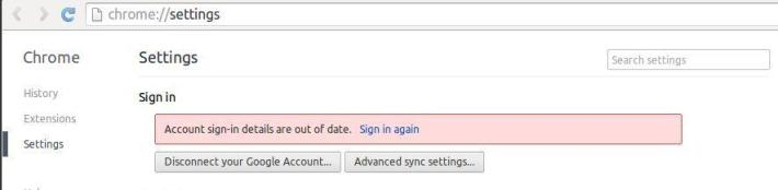 Google Chrome requesting sign-in over and over