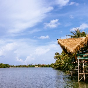 The beautiful river that runs through Kampot in southern Cambodia is home to numerous riverside guesthouses, which, while basic, offer a fantastic retreat from the world.