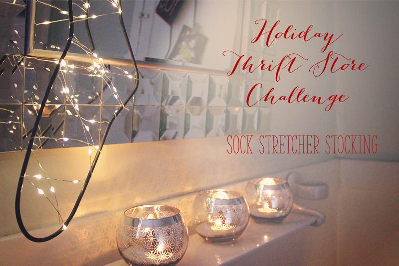 Holiday Thrift Store Challenge – Vintage Sock Stretcher Stocking| Alex Inspired