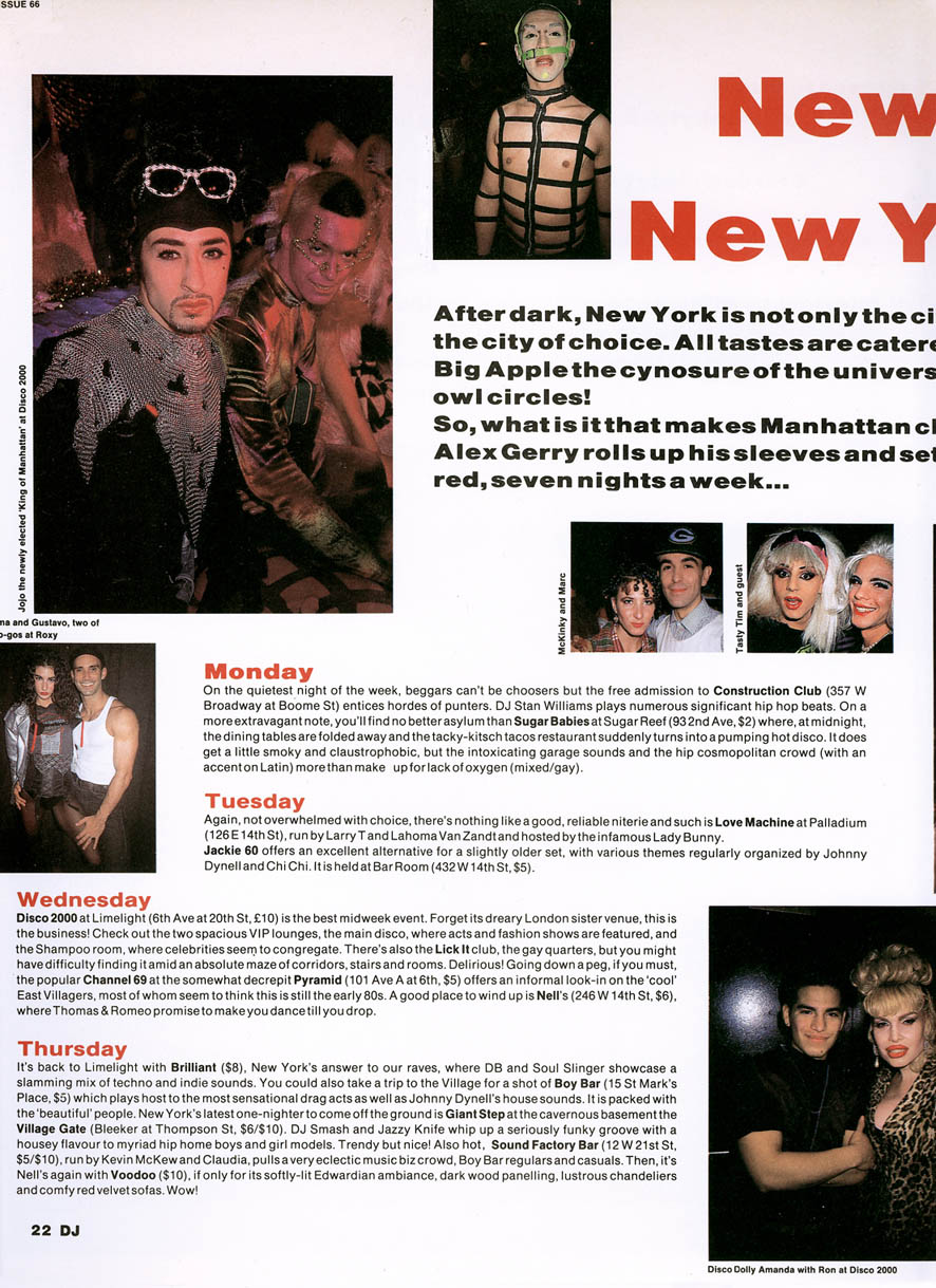 NYC Clubs DJ Mag Text & Photos © Alex Gerry