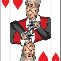 Card-i-cature a week... Week 5 - Lord Levy (the 4 of Hearts)
