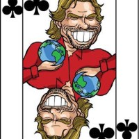 Card-i-cature a week... Week 6 - Richard Branson (the 9 of Clubs)