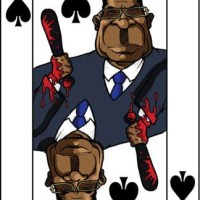 Card-i-cature a week... Week 11 - Robert Mugabe (the 7 of Spades)