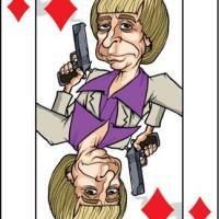 Card-i-cature a week... Week 17 - Phil Spector (the 8 of Diamonds)