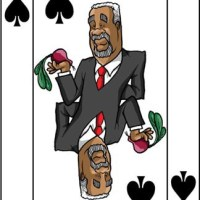 Card-i-cature a week... Week 32 - Thabo Mbeki (the Five of Spades)