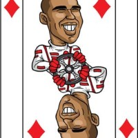 Card-i-cature a week... Week 40 - Lewis Hamilton (the Nine of Diamonds)