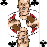 Card-i-cature a week... Week 42 - Jonny Wilkinson (The Ten of Clubs)