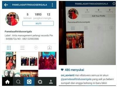 Nih, instagram asli Pamela Safitri Duo Serigala