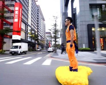 Gokil, Pria Ini Ubah Hoverboardnya Menjadi Awan Kinton Son Goku Dragonball