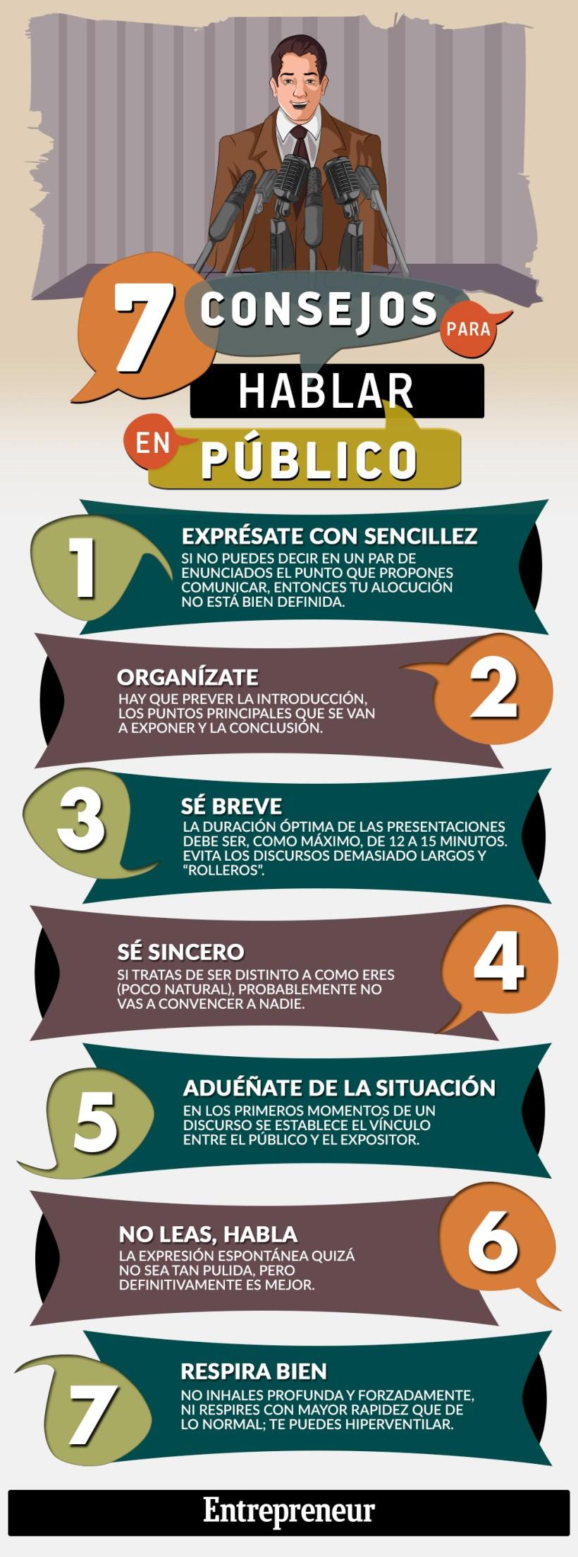 Hablar en Público #Infografía